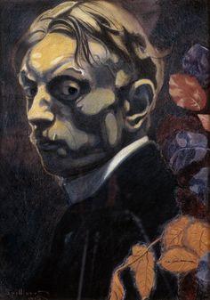 "dappledwithshadow: ""Léon Spilliaert, Self-Portrait, 1915. """