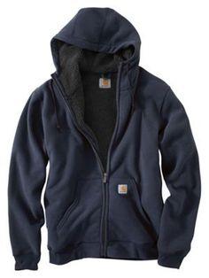 Carhartt Brushed Fleece Hooded Sweatshirts for Men - New Navy - 2XL