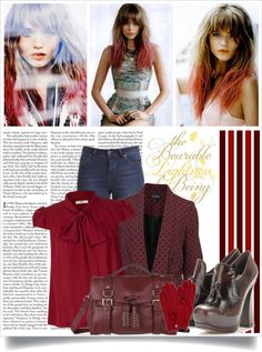 """.....Oxblood....."" by timicci23 ❤ liked on Polyvore"