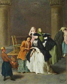 Pietro Longhi (Venetian painter, 1701-1785)  The Fortune Teller
