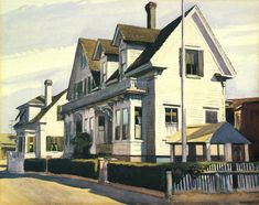 House at Provincetown: Edward Hopper, watercolor on paper, Fred Jones Jr Museum of Art House Portraits, American Art, Painter, Art, Art Movement, American Realism, Edward Hopper, American Artists, Edward