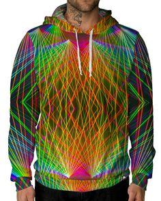 RUKES Rainbow Lasers Unisex Hoodie