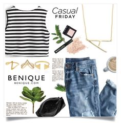 """""""Chic Friday"""" by benique ❤ liked on Polyvore featuring NARS Cosmetics, J.Crew, Valor, Maison Margiela and Ballard Designs"""