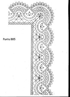 patrones - MARISA Cebrian - Álbumes web de Picasa Bobbin Lacemaking, Lace Art, Lace Painting, Bobbin Lace Patterns, Borders For Paper, Parchment Craft, Needle Lace, Lace Making, Simple Art