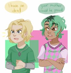 Magnus and Alex Magnus Chase and the Gods of Asgard Dibujos Percy Jackson, Percy Jackson Art, Percy Jackson Memes, Percy Jackson Fandom, Magnus Chase, Rick Riordan Series, Rick Riordan Books, The Kane Chronicles, Alex Fierro