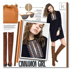 """""""Cinnamon girl!"""" by kreateurs ❤ liked on Polyvore featuring Deby Debo, Stuart Weitzman, Mina, tunicdress and kreateurs"""