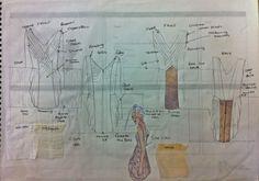 Fashion Sketchbook - dress drawings & idea development; the fashion design process // Rachael Moodie