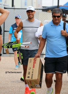 Rafa Nadal & Coach Uncle Toni Nadal