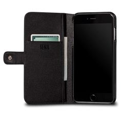 -Sena Antorini for iPhone Real Leather Wallet, Iphone Leather Case, Iphone 8, Iphone Cases, Ipad Case, Black, Black People, Iphone Case, I Phone Cases
