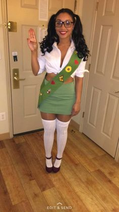 DIY Girl Scout Halloween Costume Girlscout
