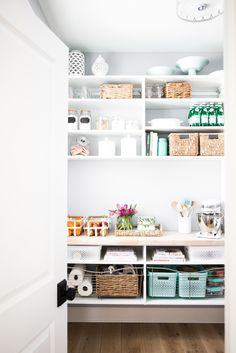 Organized pantry with wire drawers Bria Hammel Interiors | How to organize your pantry