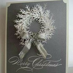 Snow wreath made with Martha Stewart branch punch. So clever.