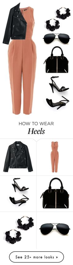 """// 353."" by peachyclouds on Polyvore featuring Topshop, LULUS, Oscar de la Renta and jumpsuits"