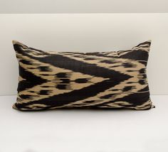 20x12 ikat pillow cover black beige pillows pillow case by SilkWay