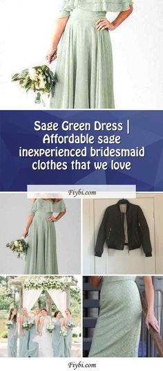 """""""Sage Green Dress, that is the subject of today... Hi my friendly follower. Our editors have compiled these 4 Sage Green Dress pictures from 145+ awesome ideas for you. While doing this, Our Team paid attention to the fact that there are decorations that can be viral in 2020 and many more. Please click on the 'Read More' button to get the rest of the content related to the Sage Green Dres... Sage Green Dress, Green Bridesmaid Dresses, Affordable Dresses, Dress Picture, Our Love, Rest, Decorations, Content, Button"""
