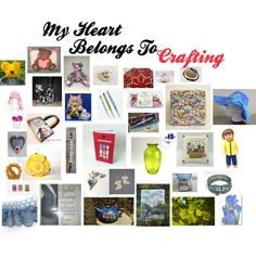 My Heart Belongs To Crafting by patchworkcrafters on Polyvore featuring interior, interiors, interior design, home, home decor, interior decorating, Yellow Jacket, Disney and TAXI