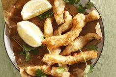 Crispy fish fingers • The lemon soft drink adds a touch of sweetness to the batter.