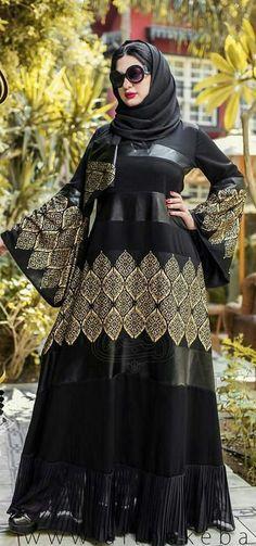 Women Dubai Black Abaya Jalabiya Dress New Very Fancy Chiffon Wedding Caftan  | Clothing, Shoes & Accessories, Women's Clothing, Dresses | eBay!