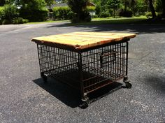 Metal Wood Side Table Kitchen Cart, Metal, Wood, Table, Design, Home Decor, Decoration Home, Woodwind Instrument, Room Decor