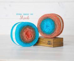 2 Hand Dyed Yarn Balls  100% Wool  Color: Moab by CraftyWoolFelt