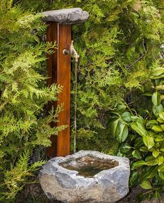 outdoor tap - Home and Garden Decoration Garden Sink, Water Garden, Backyard Projects, Garden Projects, Outdoor Sinks, Backyard Water Feature, Water Features In The Garden, Garden Fountains, Garden Landscape Design