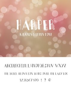 Harper Font. Sans Serif Fonts. $10.00