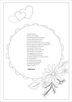 Festa della mamma poesie: tante poesie da scaricare in belle cornici colorate o da colorare. Inoltre vari testi di poesie per festeggiare la mamma senza cornice.