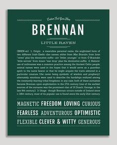Brennan Classic name print hunter green Cute Baby Names, Baby Girl Names, Future Boy, Classic Names, Descriptive Words, Character Names, Character Design, Unique Names, Name Art