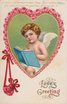 1909 Valentine Postcard ~ Wings of Whimsy