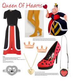 """Queen Of Hearts -C"" by ffamily123 ❤ liked on Polyvore featuring Michael Kors, Moschino, Disney, Mminimal, BERRICLE and Finn"