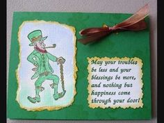 more card ideas for St. Patrick's Day