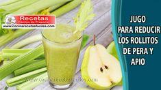 ▷ Jugo para reducir los rollitos de pera y apio - Bebidas para adelgazar Celery, Pickles, Cucumber, Pudding, Keto, Vegetables, Desserts, Food, Fitness