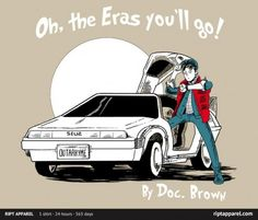 Geek Gear: Back To The Future/Dr. Seuss 'Oh, The Eras You'll Go!' Shirt | Geeks of Doom