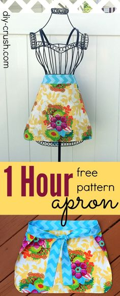 1 Hour Mother's Day Apron Sewing Pattern | DIY Crush