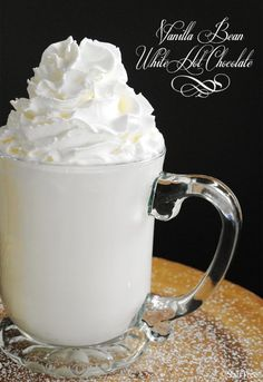 vanilla bean white hot chocolate