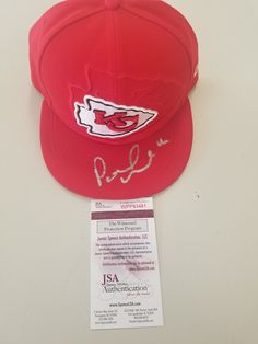 Kansas City Chiefs Patrick Mahomes Signed Autographed 2017 Sideline Hat JSA c5e7a2b12a31