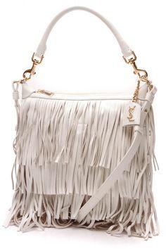 754800c9ec15 Small Fringe Emmanuelle Bag - Porcelain. Leather ClutchSuede LeatherClutch BagSaint  Laurent ...
