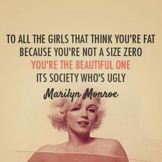Marilyn Monroe quote ♡