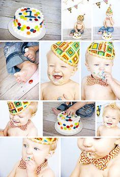 15 Ideias - Smash the Cake » Gemelares >>http://www.gemelares.com.br/2013/04/smash-the-cake.html
