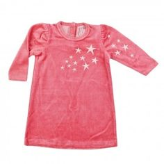 Stars nightdress in velvet cotton