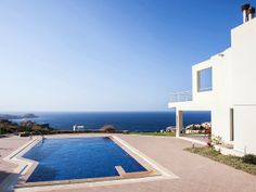 Gorgeous and stylish Villa, with stunning sea views and a fabulous pool on an extraordinary cliffside location just outside Ligaria small resort - heaven for families. http://www.cretetravel.com/hotel/aspalathos-villa