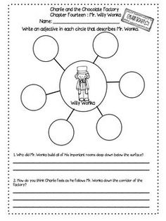 Charlie and the Chocolate Factory Novel Study Roald Dahl by Free to Teach Roald Dahl Activities, Writing Activities, Charlie And The Chocolate Factory Crafts, Roald Dahl Books, Willy Wonka, Book Week, Vocabulary Words, Classroom Themes, Speech And Language