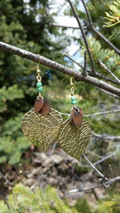 Check out this item in my Etsy shop https://www.etsy.com/listing/235149753/leaf-earrings
