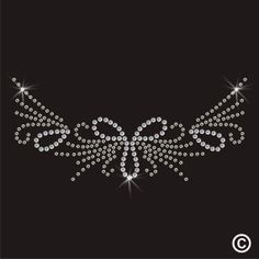 Neckline Rhinestone Diamante Transfer Iron On Hotfix Crystal Motif Applique Gem via Etsy Twisted Envy