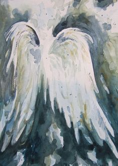 Original Watercolor Angel Wings by KLHartwork on Etsy, $50.00