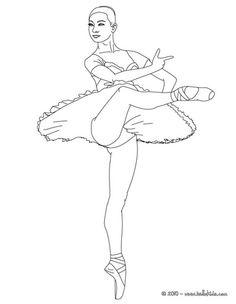 ballerina performing a pique coloring page