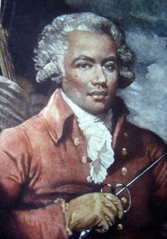 Joseph Bologne, Chevalier de Saint-Georges (also Saint-George; December 25, 1745 – June 10, 1799) was a champion fencer, a virtuoso violinist and conductor of the leading symphony orchestra in Paris. Born in Guadeloupe, he was the son of George Bologne de Saint-Georges, a wealthy planter, and Nanon, his African slave. During the French Revolution, Saint-Georges was colonel of the 'Légion St.-Georges,'the first all-black regiment in Europe.