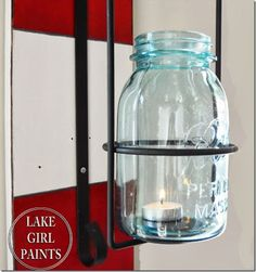 Ball Mason Jar Wall Sconce - Mason Jar Crafts Love