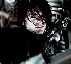"""Bucky. When he's on the ship fighting Steve, and he's telling him to SHUT UP, I think he felt something starting to click in his mind, that he did know this guy from before. But he was scared, he didn't want to hurt anyone he was close to, so he forced himself to shut the feeling out. He COULDN'T hurt anyone he was close to. Which is why he stopped punching Steve after he heard him say """"I'm with you till the end of the line"""" and everything fell apart."""