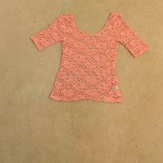 Lace shirt Cute pink lace shirt Mudd Tops